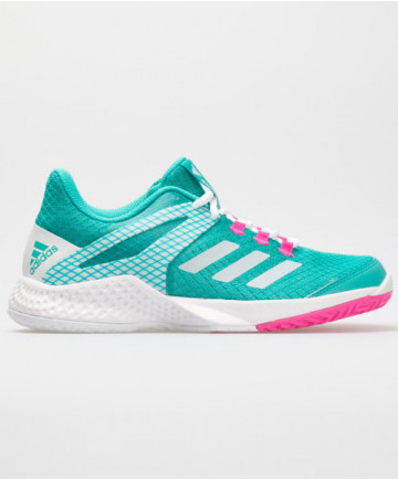 Adidas Women's AdiZero Club 2 Shoes Hi Res Aqua  White AH2155