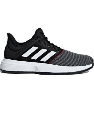 Adidas Men's Gamecourt Shoes Core Black / Cloud White CG6334