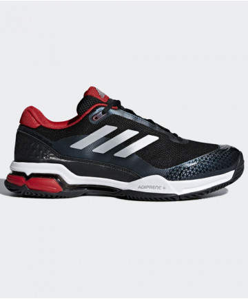 Adidas Men's Barricade Club Shoes Black/Red CM7781