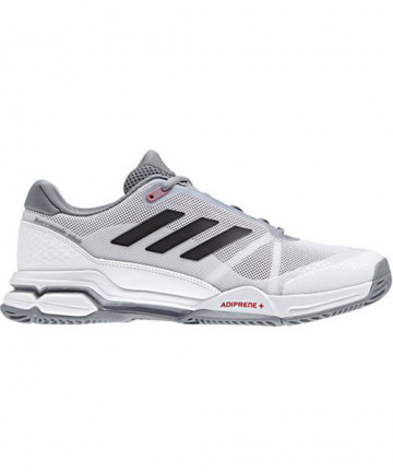 Adidas Men's Barricade Club Shoes White/Core Black/Grey CM7782