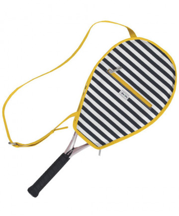 Ame & Lulu Riley Racquet Cover Tilly Navy/Yellow RC087