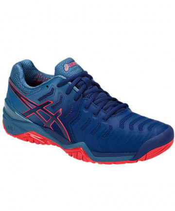 Asics Men's Gel Resolution 7 Shoes Blue Print E701Y-400
