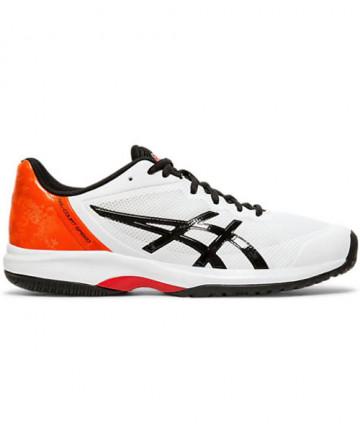 Asics Men's GEL Court Speed Shoes White / Black E800N.100