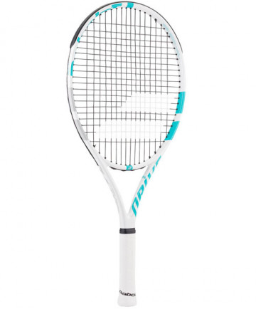 Babolat Drive 25 Inch Junior Racquet White/Blue (Pre-Strung) 140215-153