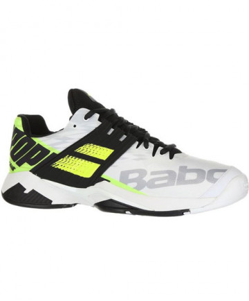 Babolat Men's Propulse Fury AC Shoes White / Yellow 30S19208-1021