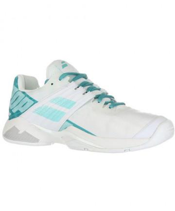 Babolat Women's Propulse Fury AC Shoes White / Mint Green 31S19477-1027