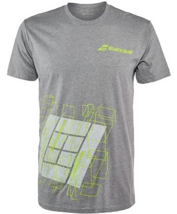 Babolat Men's Court Tee T-Shirt Heather Grey 911071