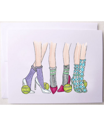 Bloom Designs Note Cards Glam Tennis Notes-GT