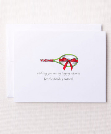 Bloom Designs Note Cards Holiday Racquet Notes-HR