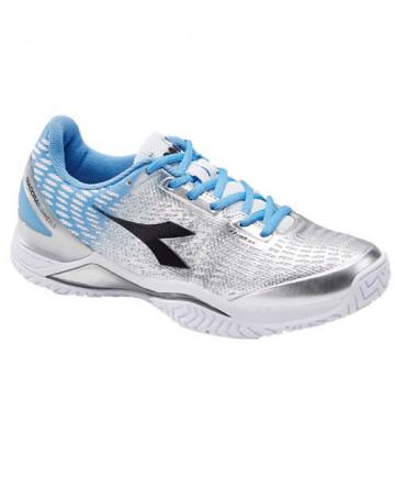 Diadora Women's Speed BluShield 2 AG Shoes Blue/Silver 172982-C2434