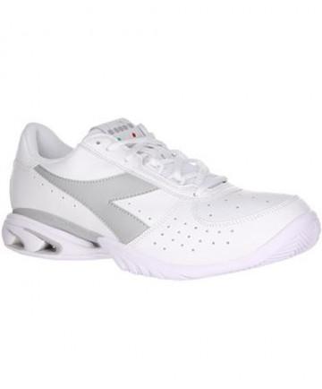 Diadora Women's Star K Elite AG Shoes White/Silver 172994-C0516