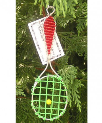 Functional Creations Christmas Racket Ornament XMAS-TRO