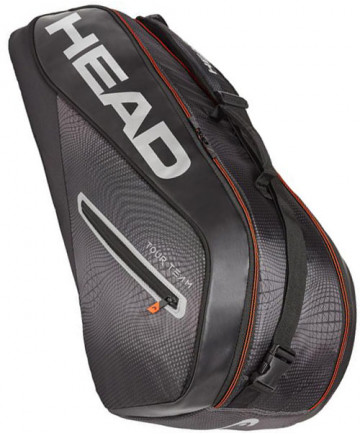 Head Tour Team Combi 6 Racquet Bag Black/Silver 2019 283129-BKSI