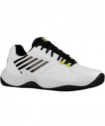 K-Swiss Men's Aero Court Shoes White / Black / Neon Yellow 06134-124