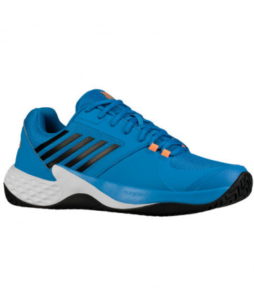 K-Swiss Men's Aero Court Shoes Brilliant Blue / Neon Orange 06134-427