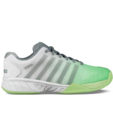K-Swiss Women's Hypercourt Express Shoes White / Paradise Green 93377-171