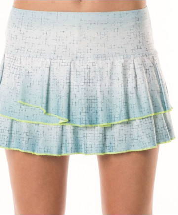 Lucky in Love Las Palmas Palm Bay Pleated Tiered Skirt Aquafrost CB180-475420