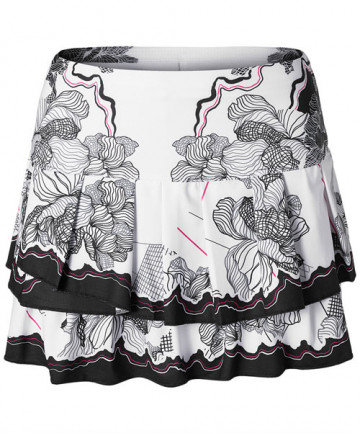 Lucky in Love Off the Charts Nexus Pleated Tiered Skirt Pink Glow CB180-47764