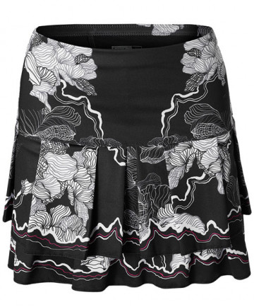 Lucky in Love Off the Charts LONG Electric Love Skirt Black