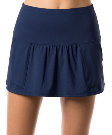 Lucky in Love Shape it Up 14 Inch LONG Pocket Skirt Blueberry CB313-460