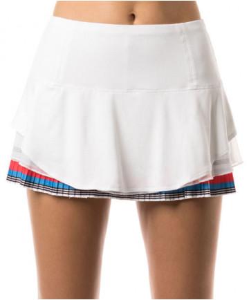Lucky in Love Beeline Border Pleat Skirt White CB314-652110