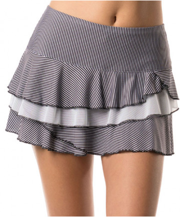 Lucky in Love Bloomy Dimensions Rally Skirt Black CB315-646001