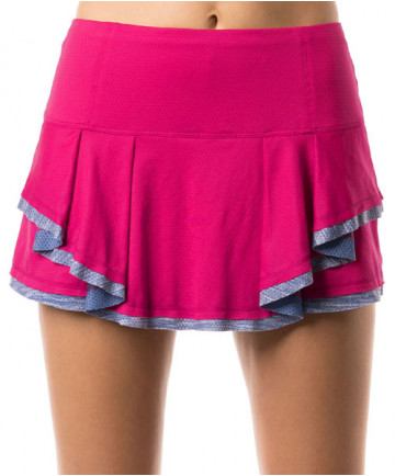 Lucky in Love Shape it Up Mixed Media Border Skirt Raspberry CB317-697643