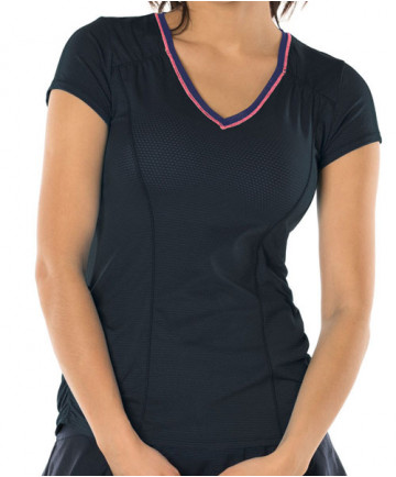 Lucky in Love Ultraviolet Uplift Short Sleeve Top Midnight CT470-401