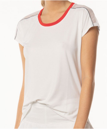 Lucky in Love Bloomy Dimensions Dolman Short Sleeve Top White CT527-120