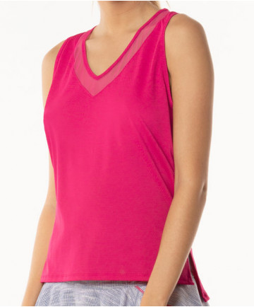 Lucky in Love Shape it Up Diamond Back Tank Raspberry CT536-643