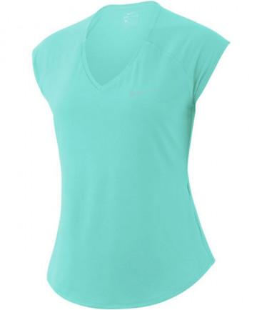 Nike Women's Pure Tennis Top Light Aqua 728757-434