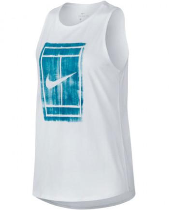 Nike Women's Court Tomboy Tank White 913535-100