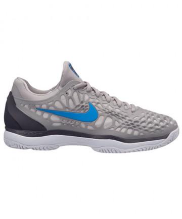 Nike Men's Zoom Cage 3 HC Shoes Grey/Blue 918193-049