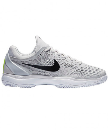 Nike Men's Zoom Cage 3 Hard Court Shoes Grey/Black 918193-071