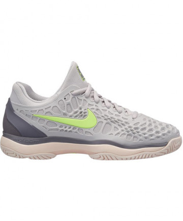 Nike Women's Zoom Cage 3 HC Shoes Grey/Green 918199-070