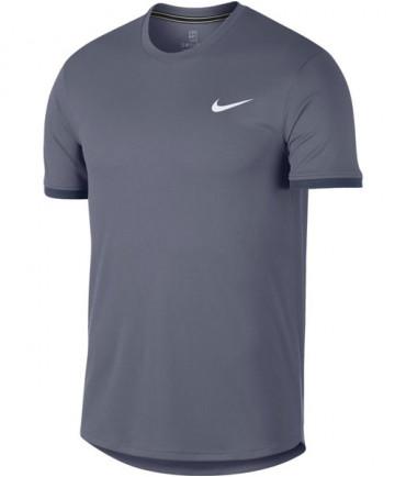Nike Men's Court Dry Short Sleeve Colorblock Top Light Carbon 939134-011