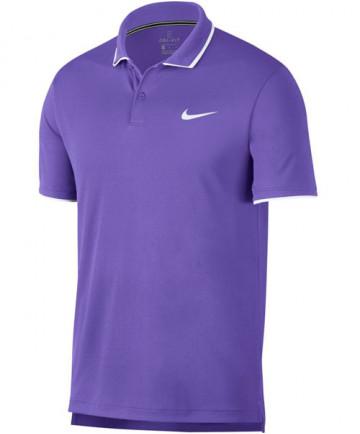 Nike Men's Court Dry Team Polo Psychic Purple 939137-550