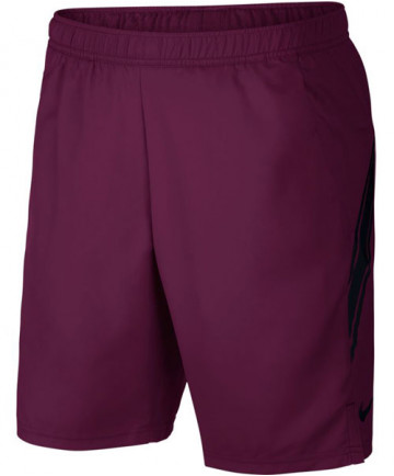 Nike Men's Court Dry 9 Inch Shorts Bordeaux 939265-609