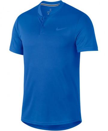 Nike Men's Court Dry Blade Polo Signal Blue AQ7732-403