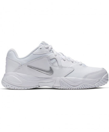 Nike Women's Court Lite 2 Shoes White / Metallic Silver AR8838-101