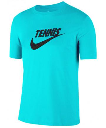 Nike Men's Court Dri FIT Tennis Tee T-Shirt Light Aqua CJ0429-434
