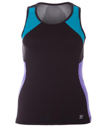 Sofibella Athletic Top Spin Tank Black 1780-BLK