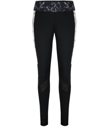 Tail Reese Side Panel Leggings Fissure Black TX6831-C77