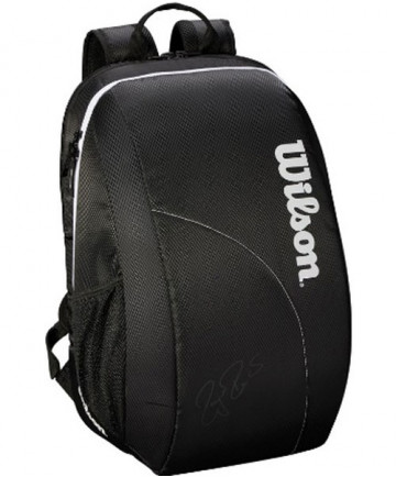 Wilson Federer Team Backpack Bag Black/White WRZ834895