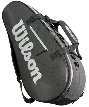 Wilson Super Tour 2 Compartment Large 9 Pack Tennis Bag Grey WRZ843909