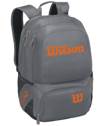 Wilson Tour V Backpack Bag Grey/Orange WRZ847695