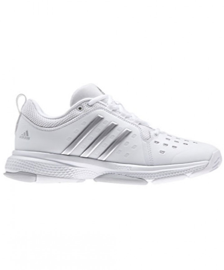95f857e0cad374 Adidas Women s Barricade Classic Bounce Shoes White Silver BY2926