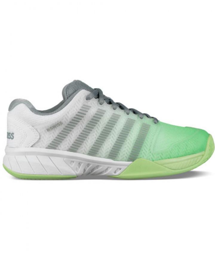 K Swiss Women S Hypercourt Express Shoes White Paradise Green