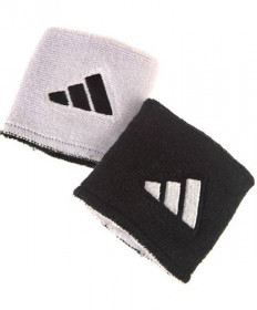 Adidas Interval Reversible Wristbands Small White/Black 5134312