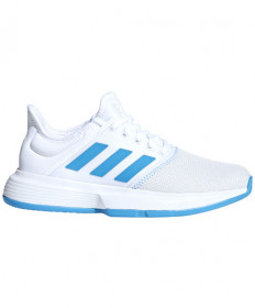 Adidas Women's Game Court Shoes White/Shock Cyan CG6367